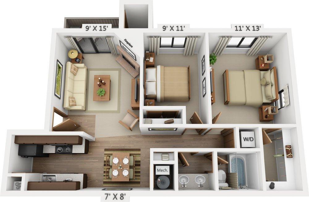 2 Bedrooms 1 Bathroom Apartment for rent at Santana Ridge in Denver, CO
