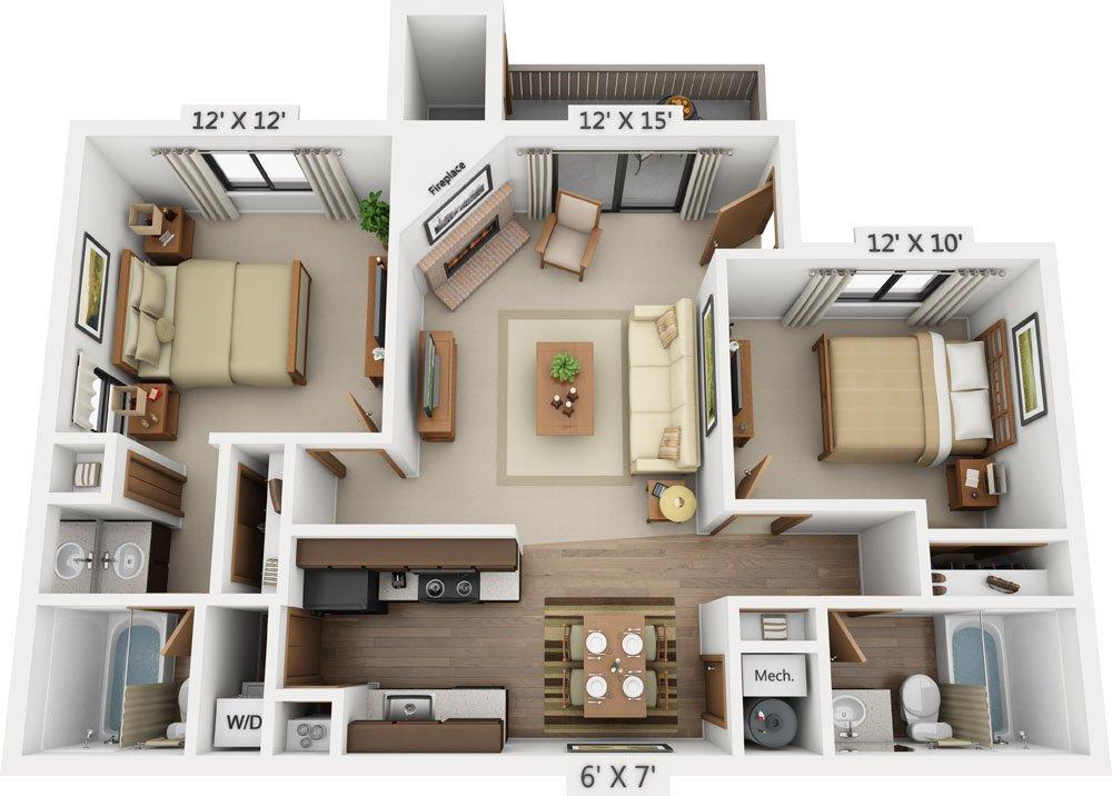 2 Bedrooms 2 Bathrooms Apartment for rent at Santana Ridge in Denver, CO