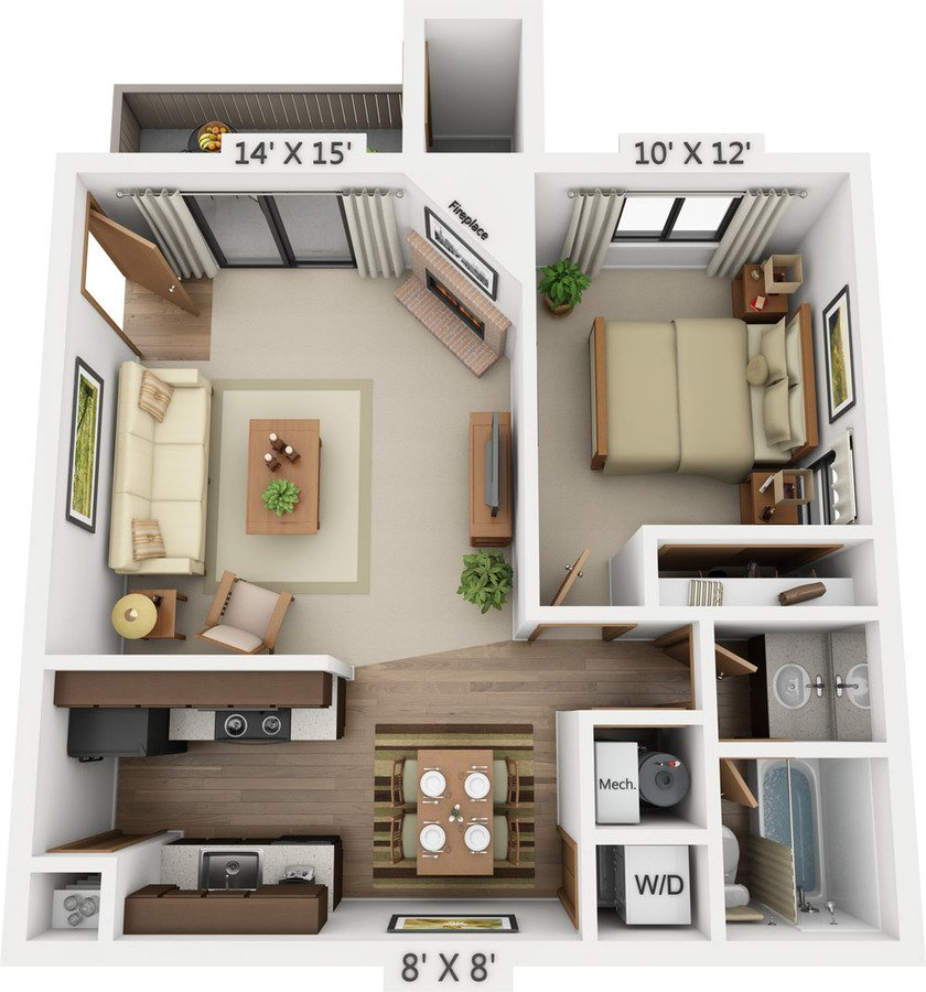 1 Bedroom 1 Bathroom Apartment for rent at Santana Ridge in Denver, CO