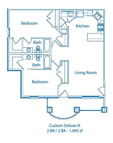 2 Bedrooms 2 Bathrooms Apartment for rent at The Links At Columbia in Columbia, MO