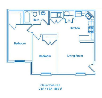2 Bedrooms 1 Bathroom Apartment for rent at The Links At Columbia in Columbia, MO