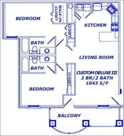 2 Bedrooms 2 Bathrooms Apartment for rent at The Greens - Springfield in Springfield, MO