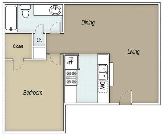 1 Bedroom 1 Bathroom Apartment for rent at Brays Oaks Park in Houston, TX