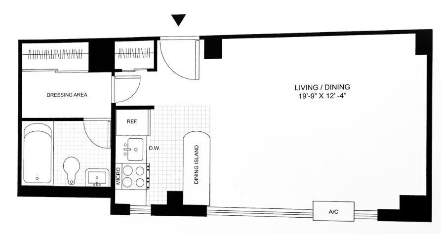 Studio 1 Bathroom Apartment for rent at Savoy Park in Manhattan, NY