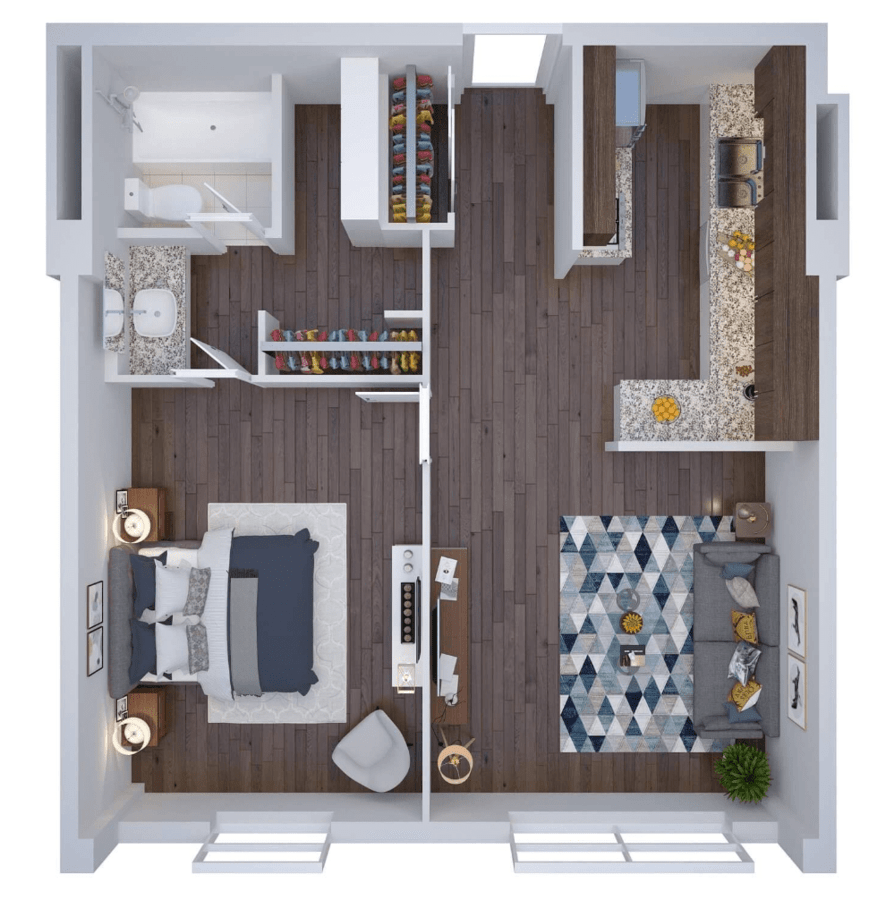 1 Bedroom 1 Bathroom Apartment for rent at Studio One Tower in Cincinnati, OH