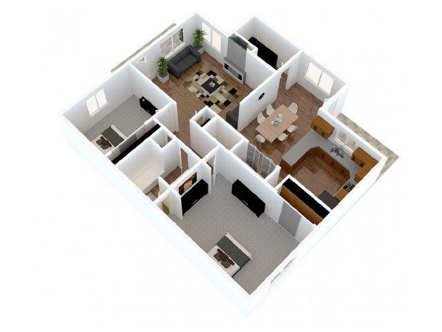 2 Bedrooms 1 Bathroom Apartment for rent at Hidden Hills in Kansas City, MO