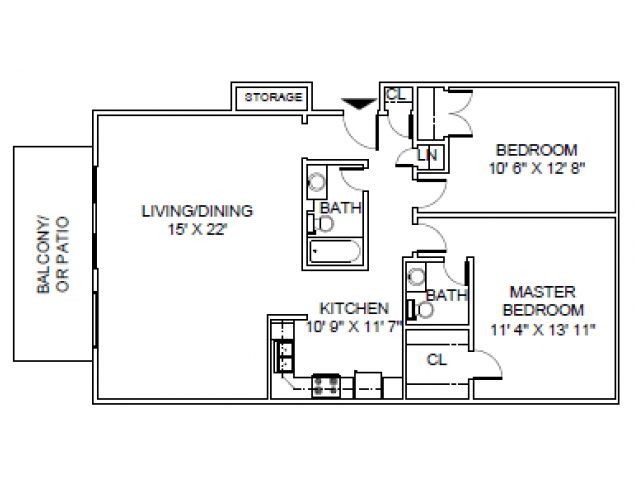 2 Bedrooms 1 Bathroom Apartment for rent at Briar Hill in Kansas City, MO