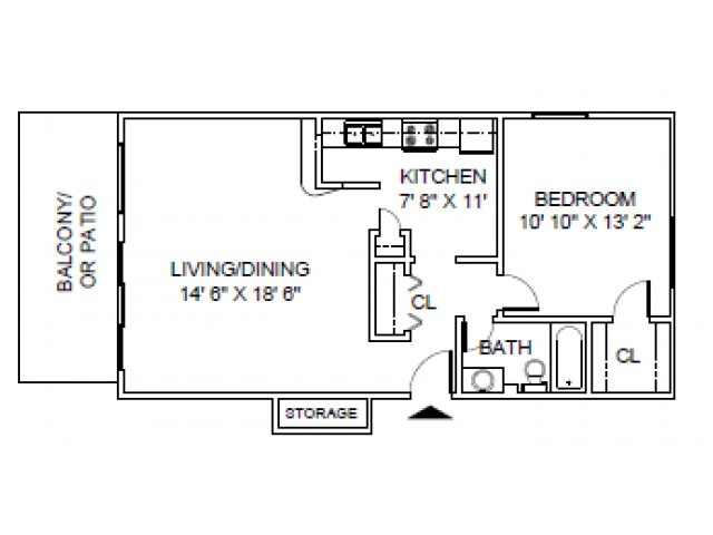 1 Bedroom 1 Bathroom Apartment for rent at Briar Hill in Kansas City, MO