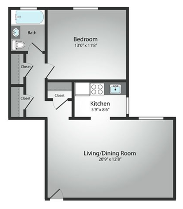 1 Bedroom 1 Bathroom Apartment for rent at The Residences Of South Hills in Pittsburgh, PA