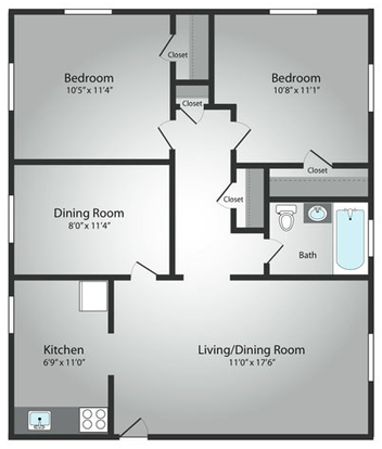 2 Bedrooms 1 Bathroom Apartment for rent at The Residences Of South Hills in Pittsburgh, PA