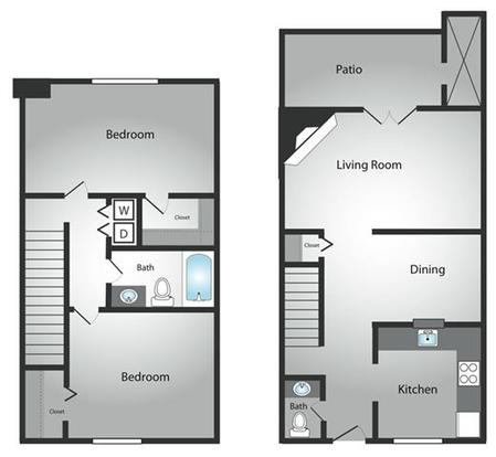 2 Bedrooms 2 Bathrooms Apartment for rent at Bavarian Woods in Middletown, OH