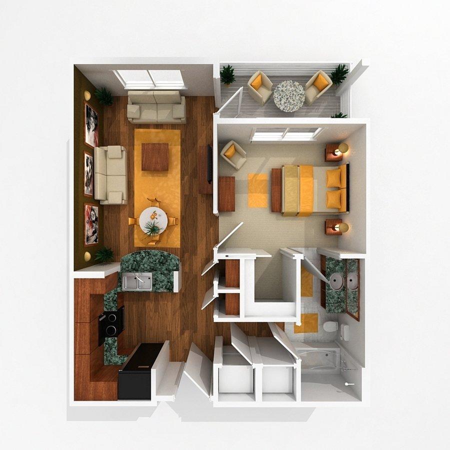 1 Bedroom 1 Bathroom Apartment for rent at Pinhook Flats in Omaha, NE