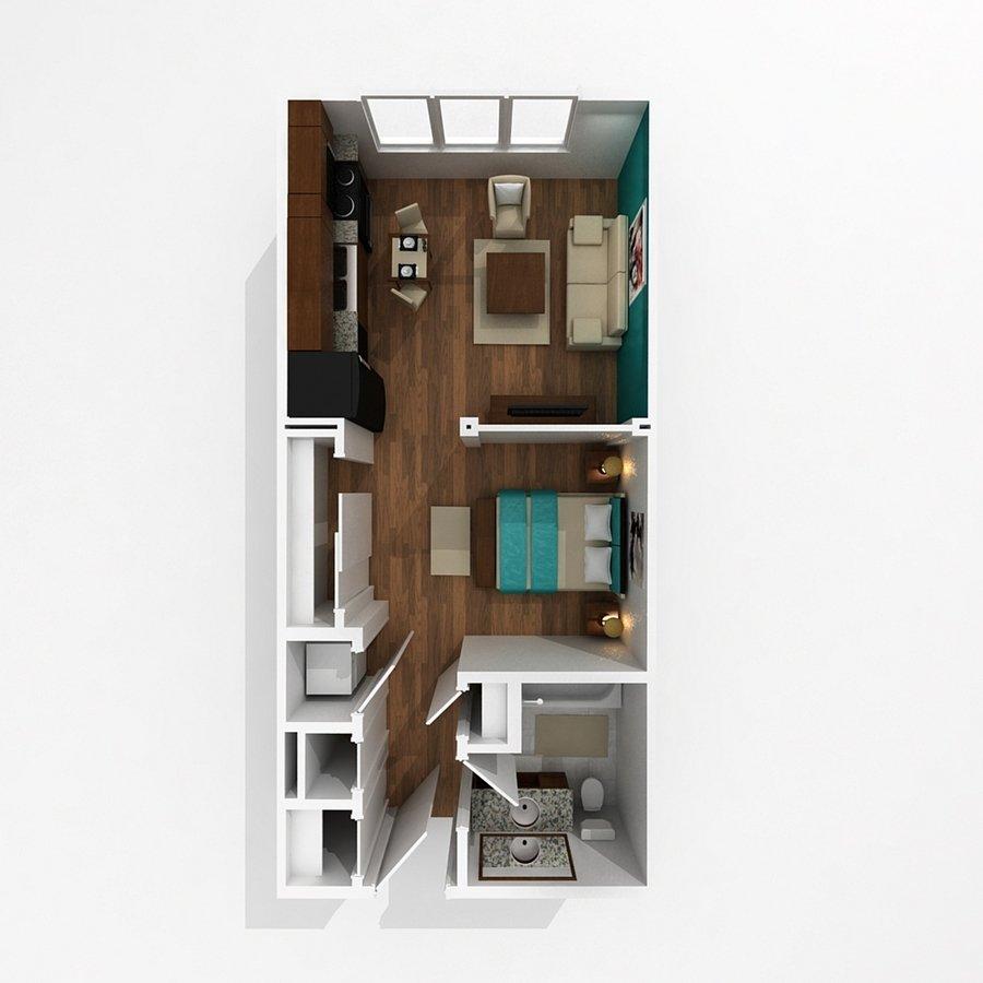 Studio 1 Bathroom Apartment for rent at Pinhook Flats in Omaha, NE