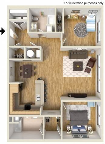2 Bedrooms 2 Bathrooms Apartment for rent at Pinhook Flats in Omaha, NE