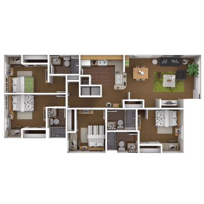 4 Bedrooms 4+ Bathrooms Apartment for rent at Reserve On Perkins in Stillwater, OK