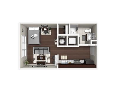 Studio 1 Bathroom Apartment for rent at 605 West in Durham, NC