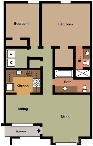 2 Bedrooms 2 Bathrooms Apartment for rent at Bentwood Apartments in Birmingham, AL