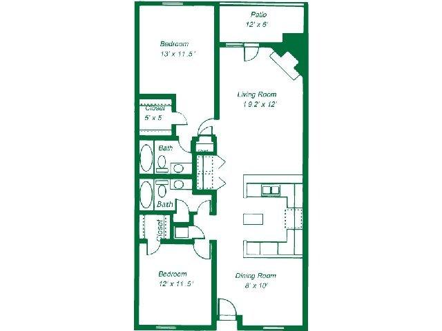 2 Bedrooms 2 Bathrooms Apartment for rent at Turtle Lake Apartment Homes in Birmingham, AL