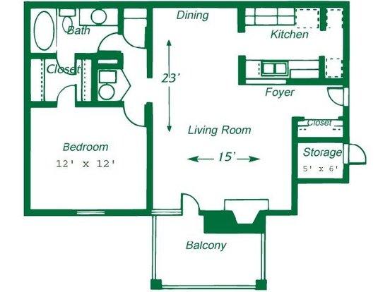 1 Bedroom 1 Bathroom Apartment for rent at Turtle Lake Apartment Homes in Birmingham, AL