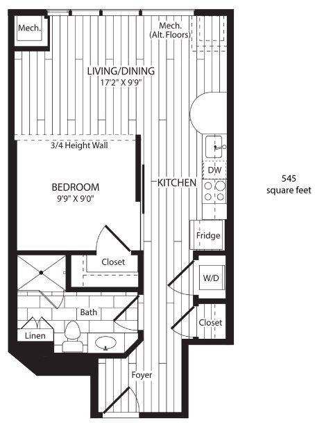 Studio 1 Bathroom Apartment for rent at 3737 Chestnut in Philadelphia, PA
