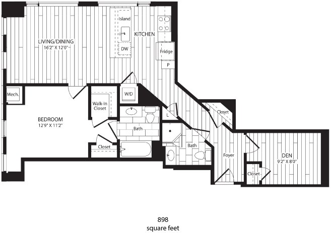 1 Bedroom 2 Bathrooms Apartment for rent at 3737 Chestnut in Philadelphia, PA