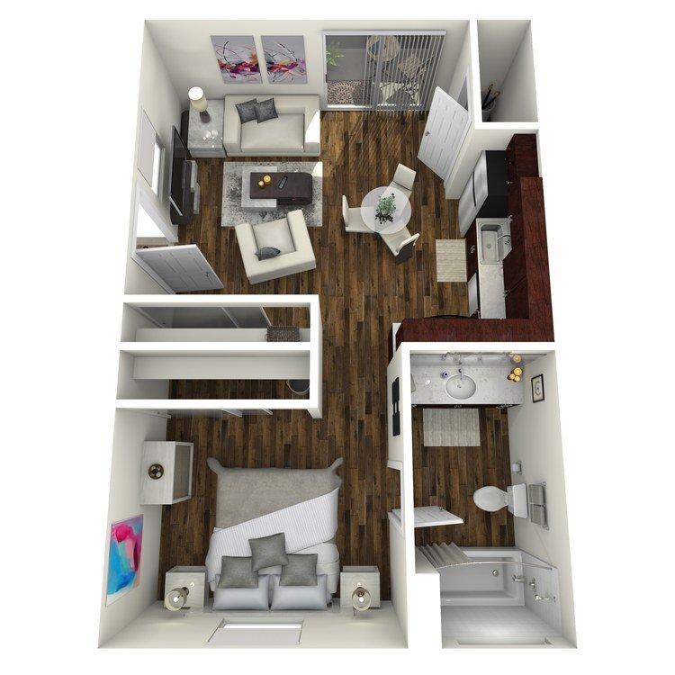 1 Bedroom 1 Bathroom Apartment for rent at Fairway Village in San Ramon, CA