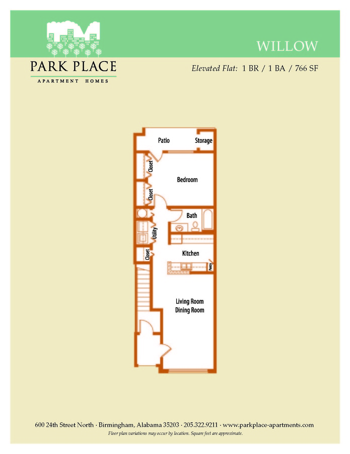 1 Bedroom 1 Bathroom Apartment for rent at Park Place in Birmingham, AL