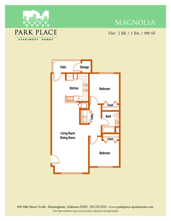 2 Bedrooms 1 Bathroom Apartment for rent at Park Place in Birmingham, AL