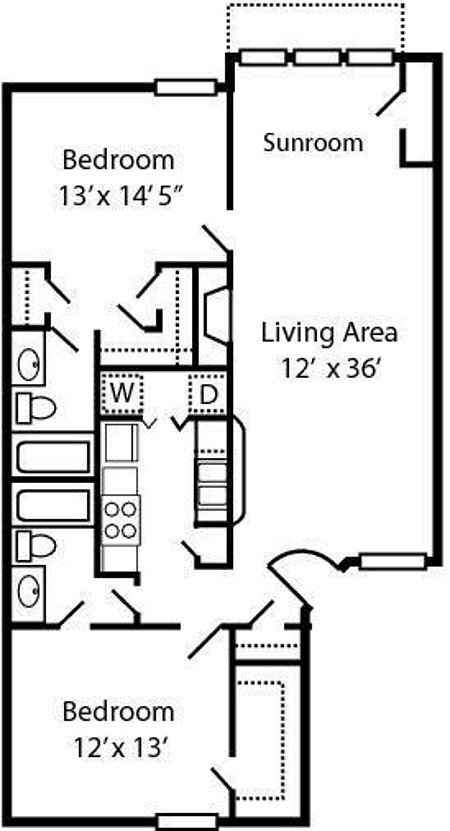2 Bedrooms 2 Bathrooms Apartment for rent at Spring Creek in Columbus, OH