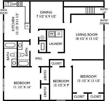 3 Bedrooms 2 Bathrooms Apartment for rent at Breckenridge in Birmingham, AL