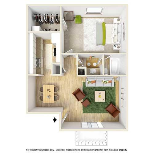1 Bedroom 1 Bathroom Apartment for rent at Place At Galleria in Birmingham, AL
