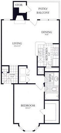 1 Bedroom 1 Bathroom Apartment for rent at Rolling Brook Village in Woodbridge, VA