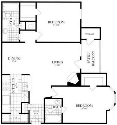 2 Bedrooms 2 Bathrooms Apartment for rent at Rolling Brook Village in Woodbridge, VA