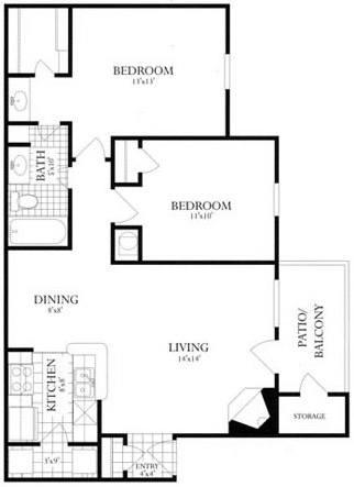 2 Bedrooms 1 Bathroom Apartment for rent at Rolling Brook Village in Woodbridge, VA