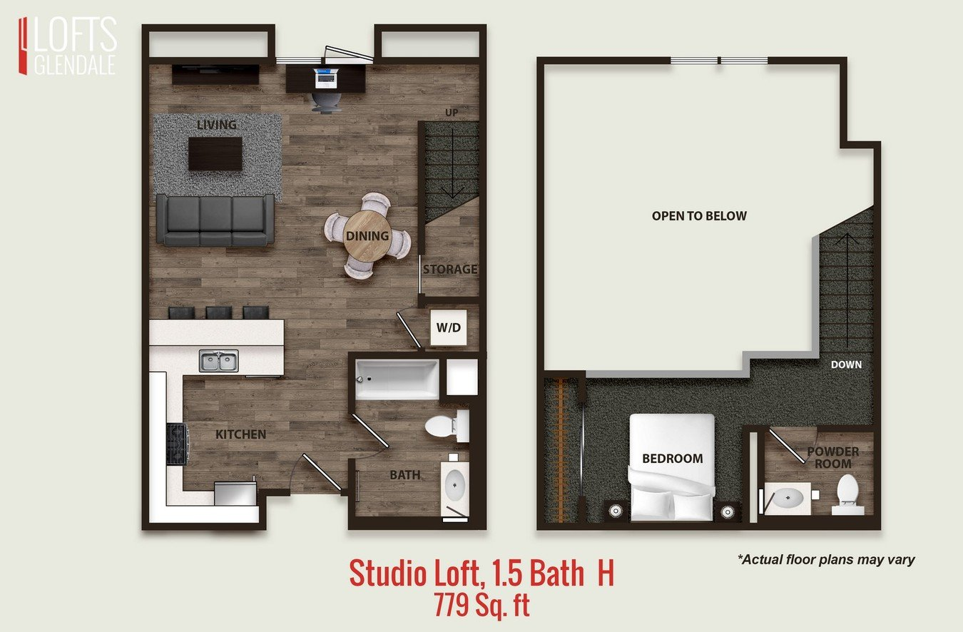 Studio 1 Bathroom Apartment for rent at L Lofts in Glendale, CA