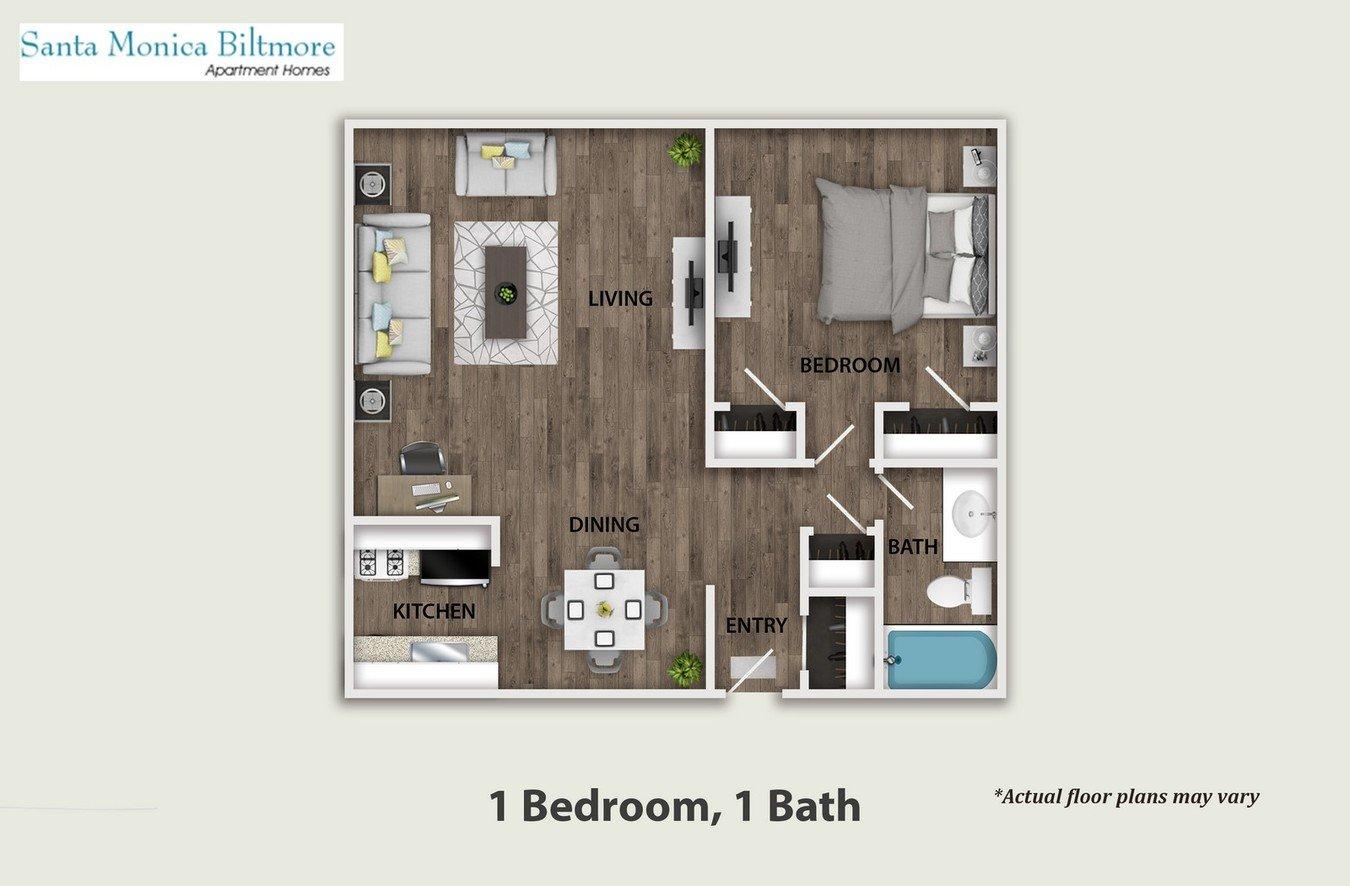 1 Bedroom 1 Bathroom Apartment for rent at Santa Monica Biltmore in Santa Monica, CA