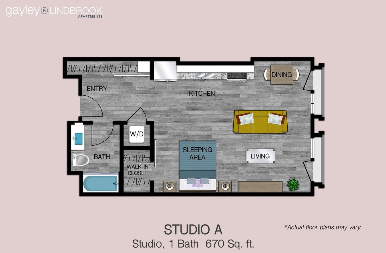 Studio 1 Bathroom Apartment for rent at Gayley & Lindbrook in Los Angeles, CA