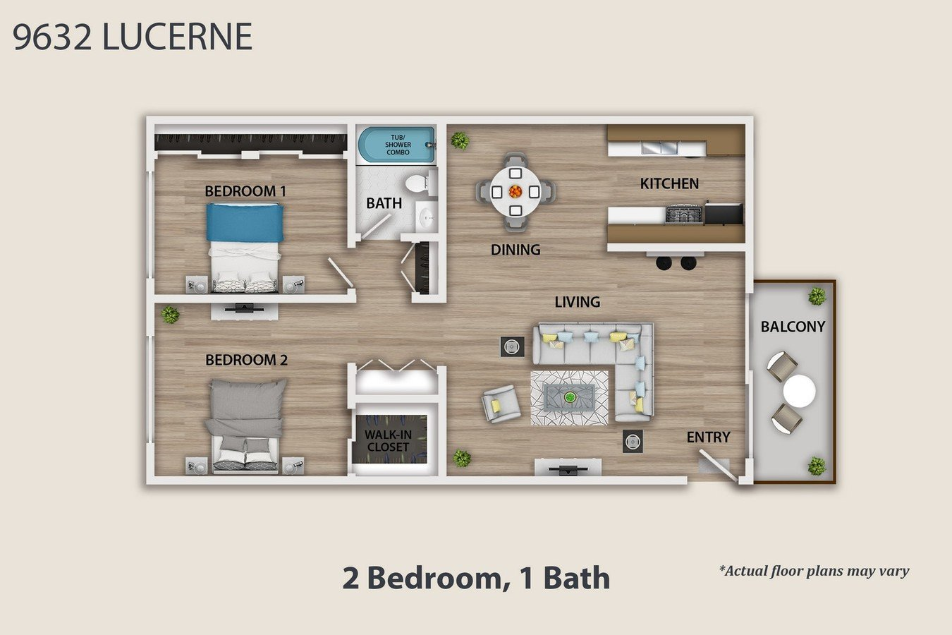 2 Bedrooms 1 Bathroom Apartment for rent at 9632 Lucerne Ave in Culver City, CA