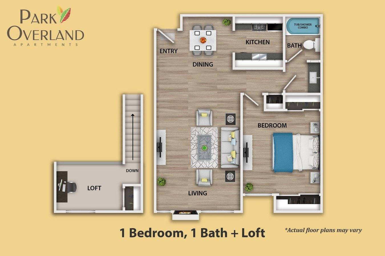1 Bedroom 1 Bathroom Apartment for rent at Park Overland in Century City, CA