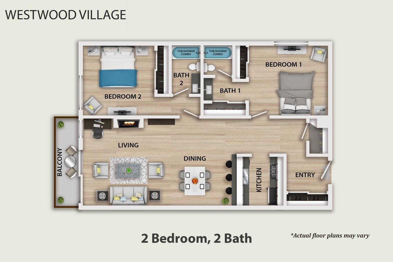 2 Bedrooms 2 Bathrooms Apartment for rent at Westwood Village in Westwood, CA