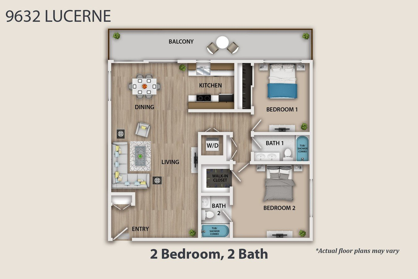 2 Bedrooms 2 Bathrooms Apartment for rent at 9632 Lucerne Ave in Culver City, CA
