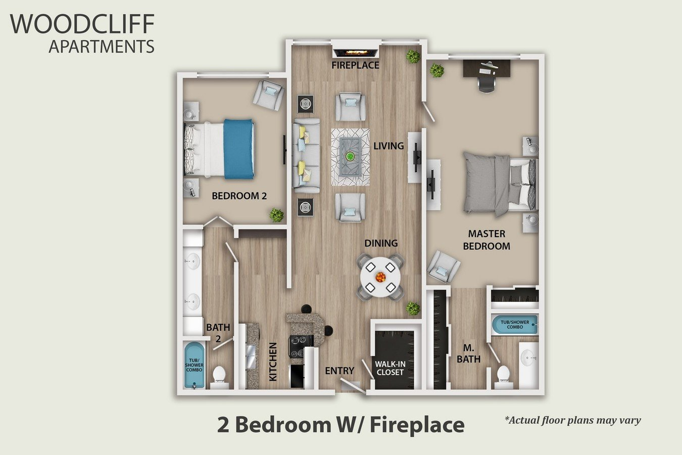2 Bedrooms 2 Bathrooms Apartment for rent at Woodcliff in Los Angeles, CA