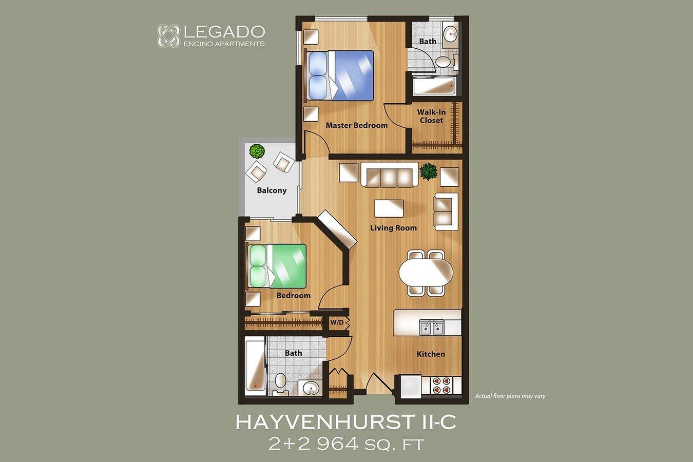 2 Bedrooms 2 Bathrooms Apartment for rent at Legado Encino in Encino, CA