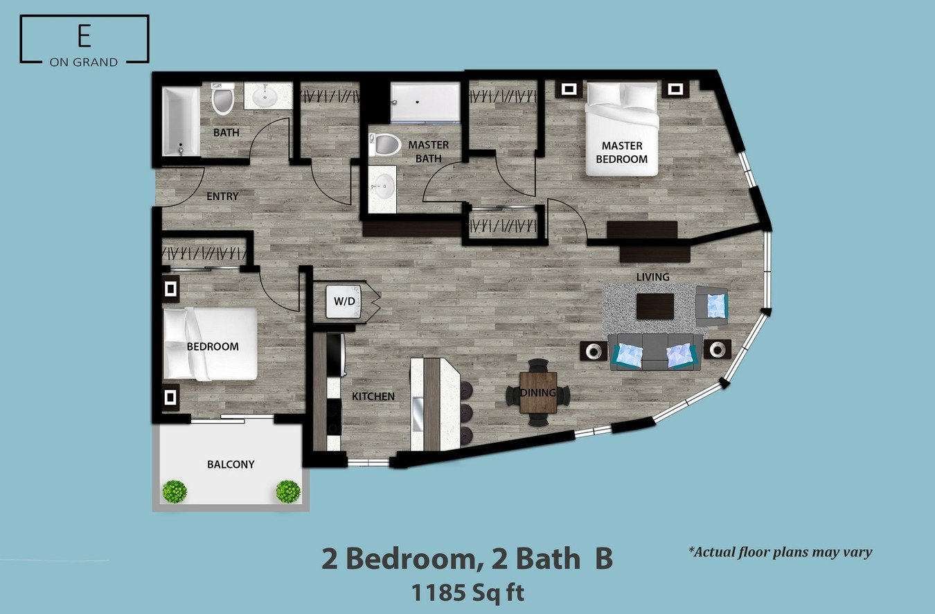 2 Bedrooms 2 Bathrooms Apartment for rent at E On Grand in Los Angeles, CA