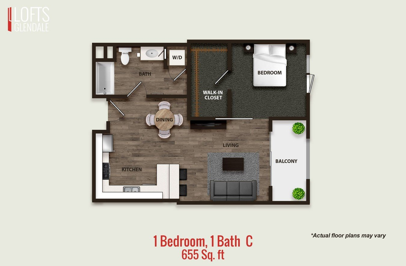 1 Bedroom 1 Bathroom Apartment for rent at L Lofts in Glendale, CA