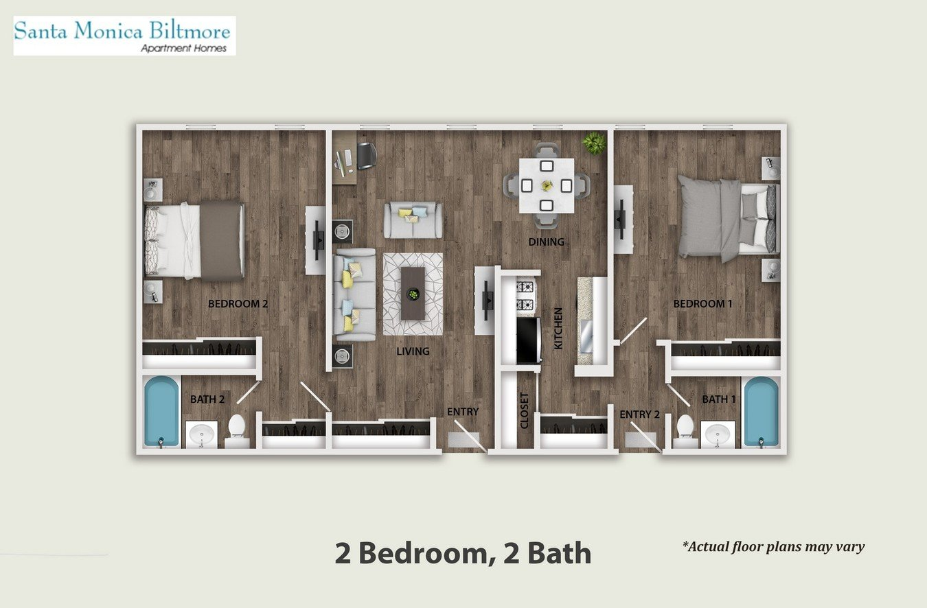 2 Bedrooms 1 Bathroom Apartment for rent at Santa Monica Biltmore in Santa Monica, CA
