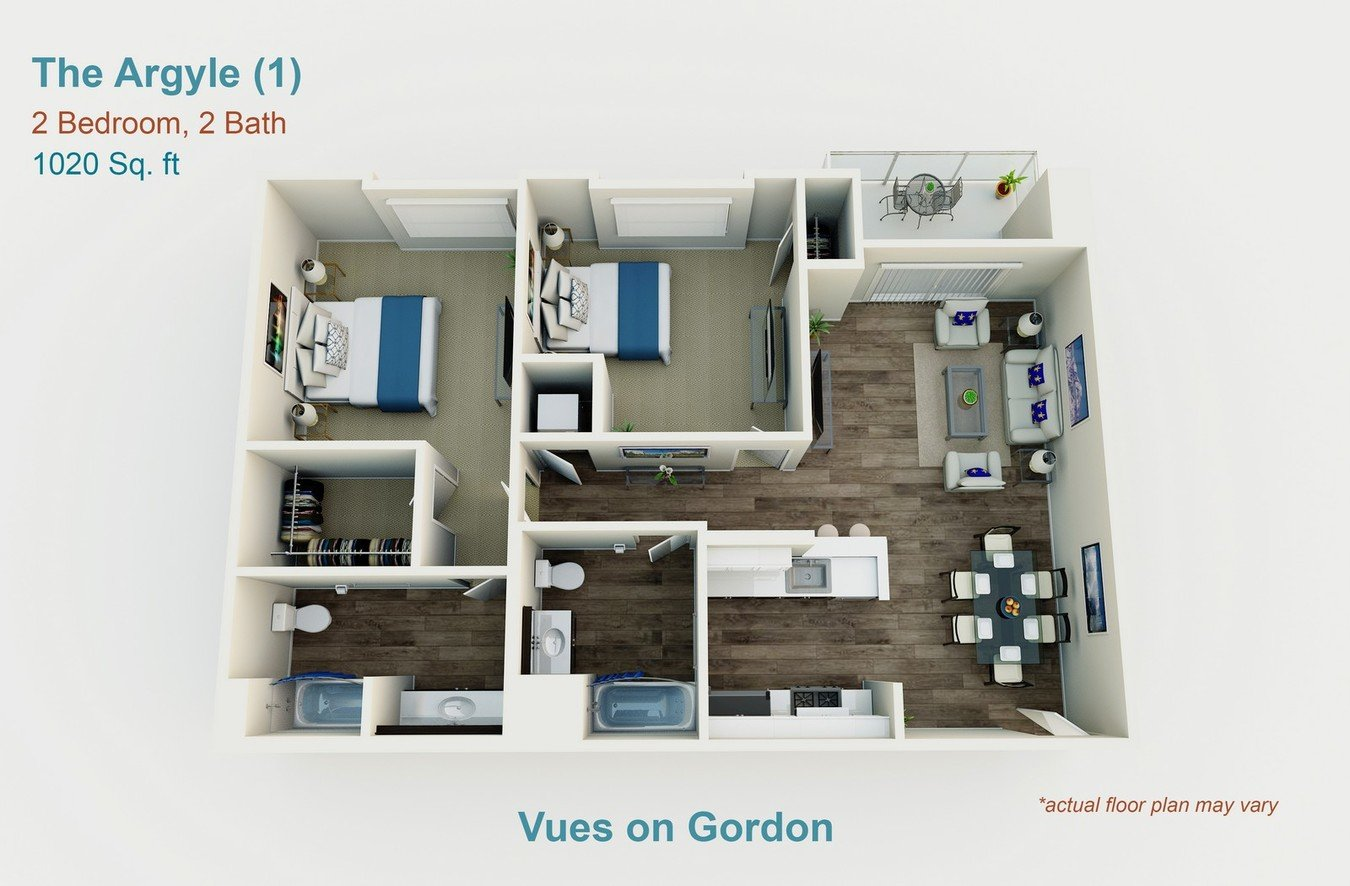 2 Bedrooms 2 Bathrooms Apartment for rent at Vues On Gordon in Los Angeles, CA