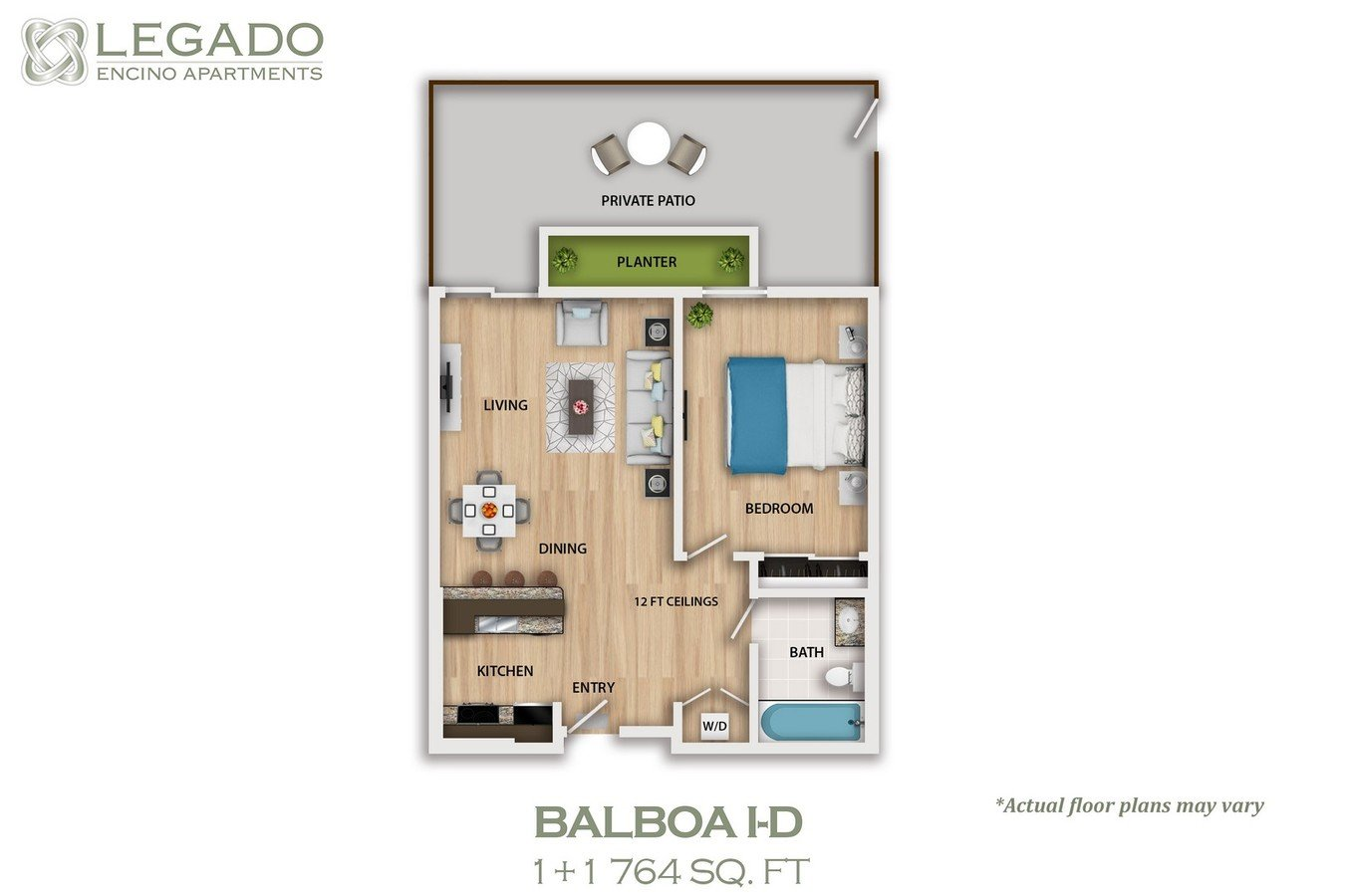 1 Bedroom 1 Bathroom Apartment for rent at Legado Encino in Encino, CA