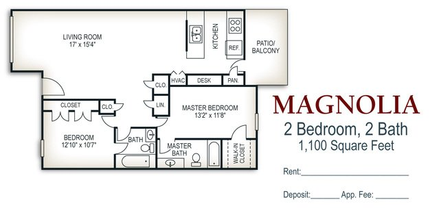 2 Bedrooms 2 Bathrooms Apartment for rent at Walker Springs in Knoxville, TN
