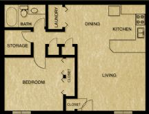 1 Bedroom 1 Bathroom Apartment for rent at Waterford Village in Knoxville, TN